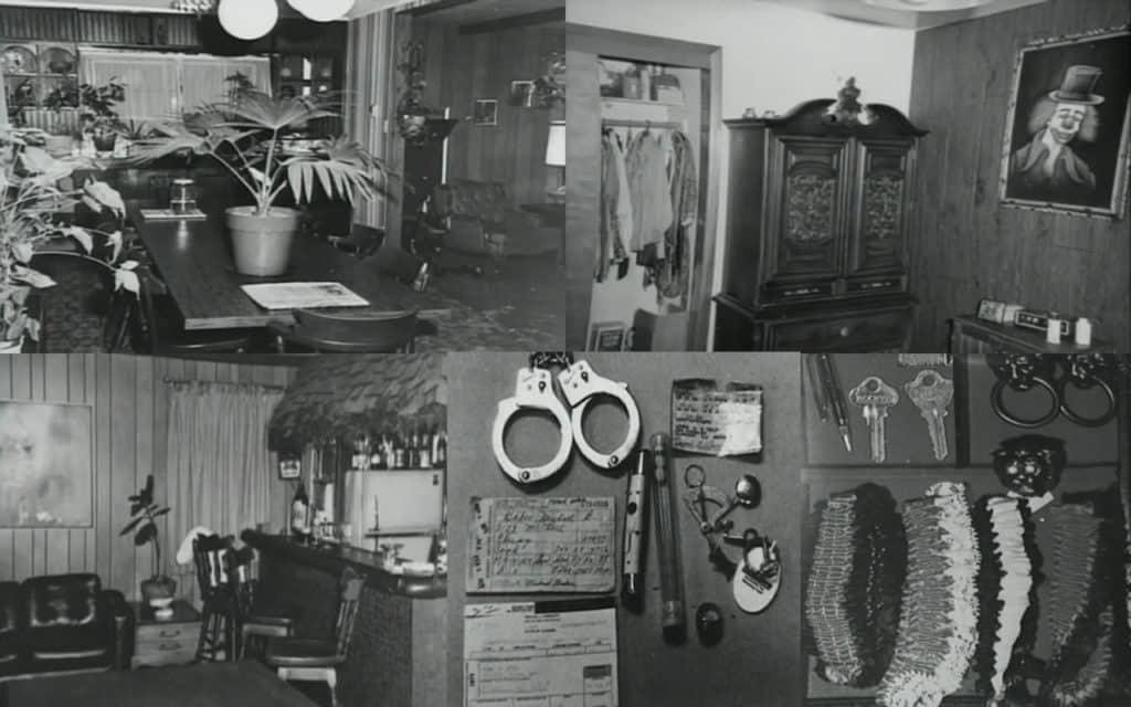 Casa de john wayne gacy e alguns dos objetos confiscados pela polícia1 • mundo sombrio