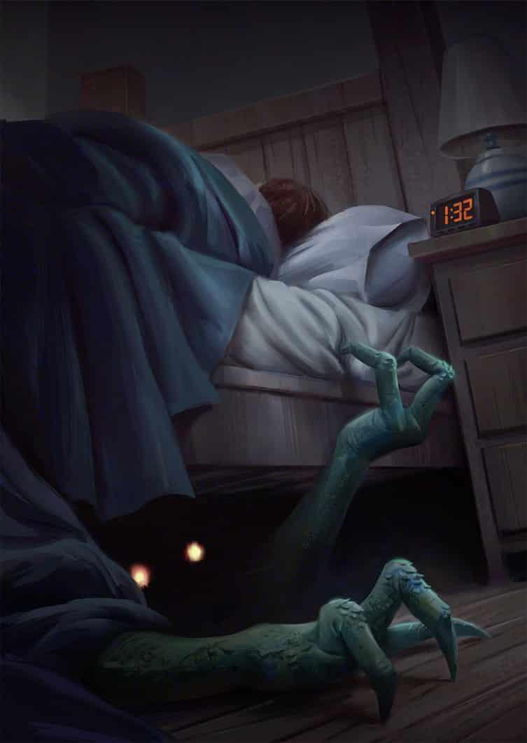 História de terror: não alimente os monstros mundo sombrio