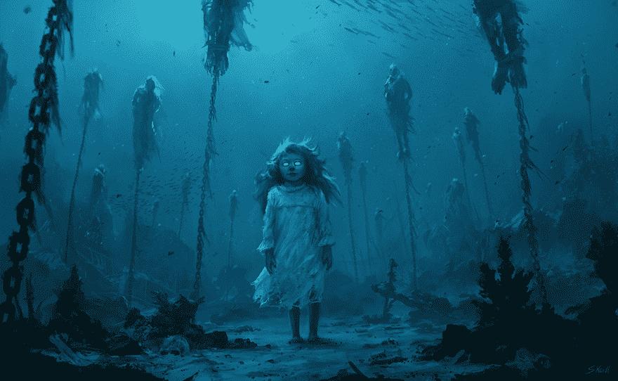 Ilustrações Assustadoras de Stefan Koidl mundo sombrio