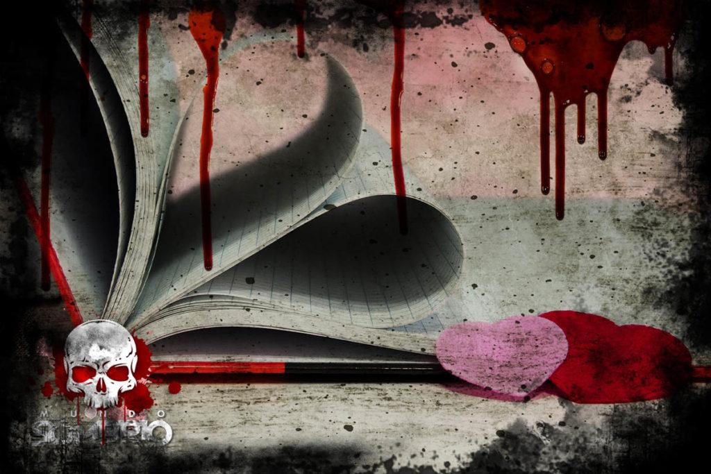 corações cor de rosa história de terror mundo sombrio