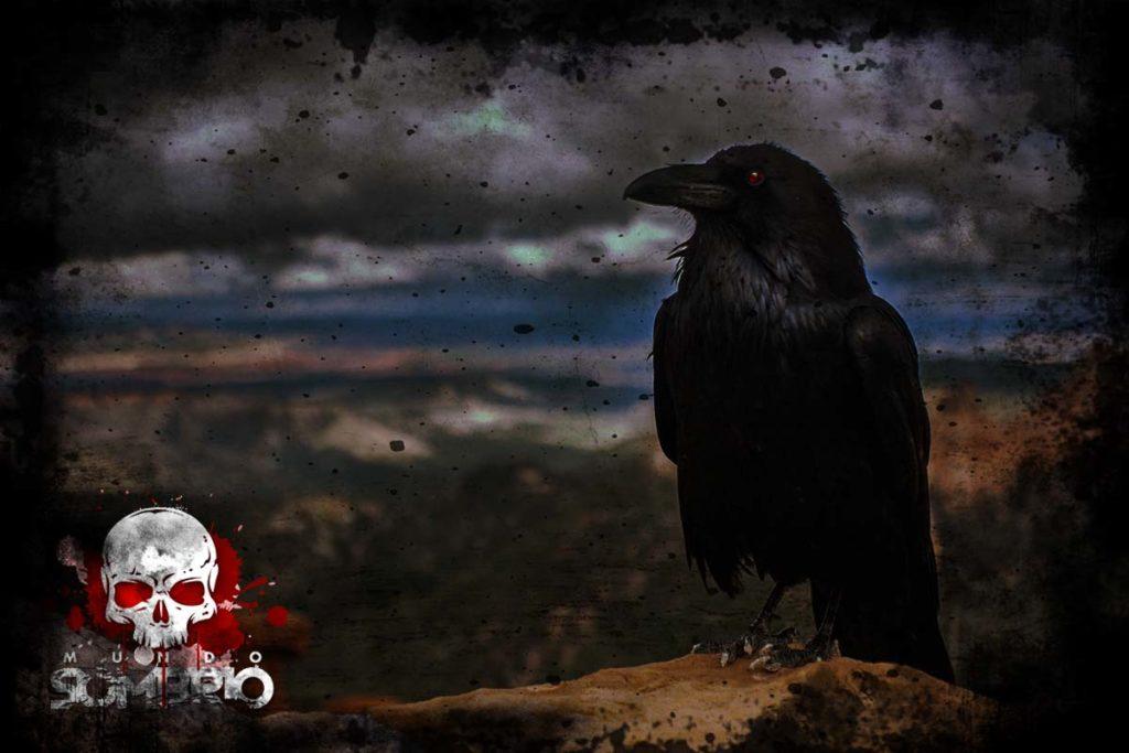 e o corvo disse nunca mais história de terror mundo sombrio