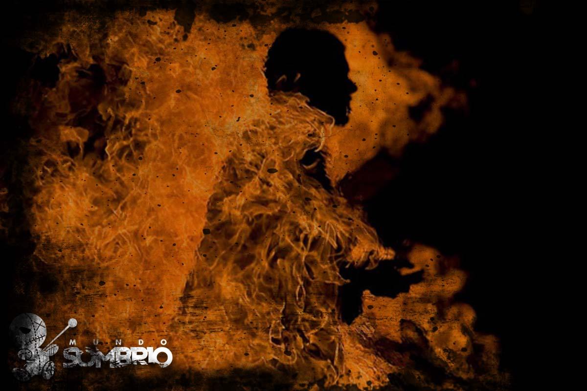 o homem de fogo história de terror mundo sombrio
