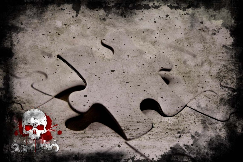o quebra-cabeça história de terror mundo sombrio