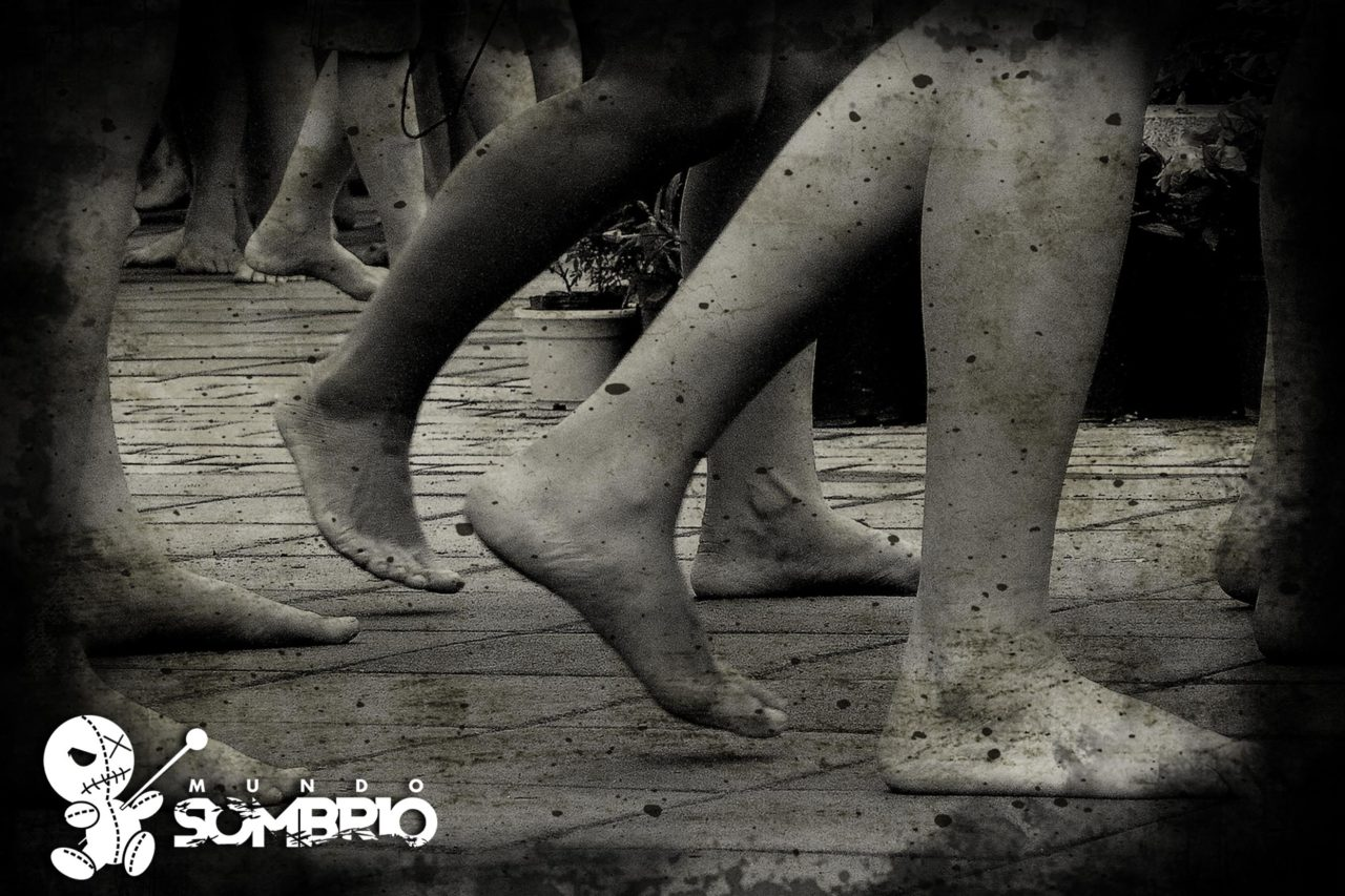 pés descalços história de terror