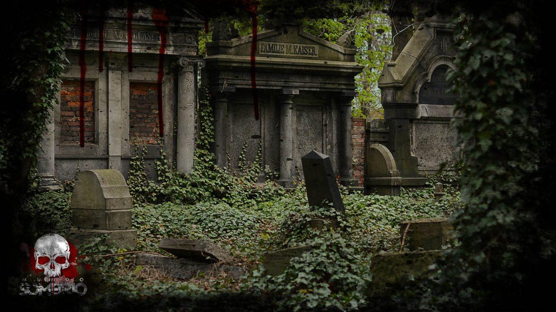 o cemitério na noite de halloween história de terror mundo sombrio