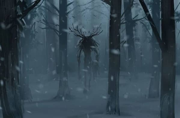 wendigo floresta mundo sombrio