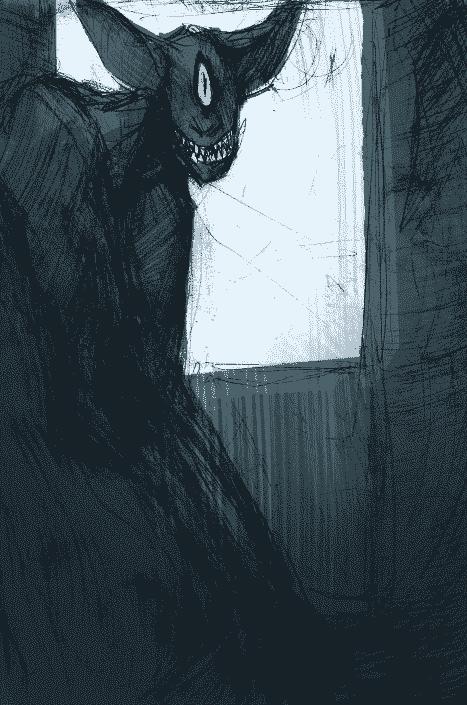 Ilustração popobawa mundo sombrio