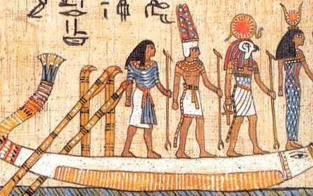 Caronte, o Barqueiro do Inferno retratado pelos Egípcios