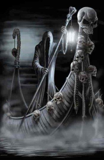 Caronte, o barqueiro do inferno
