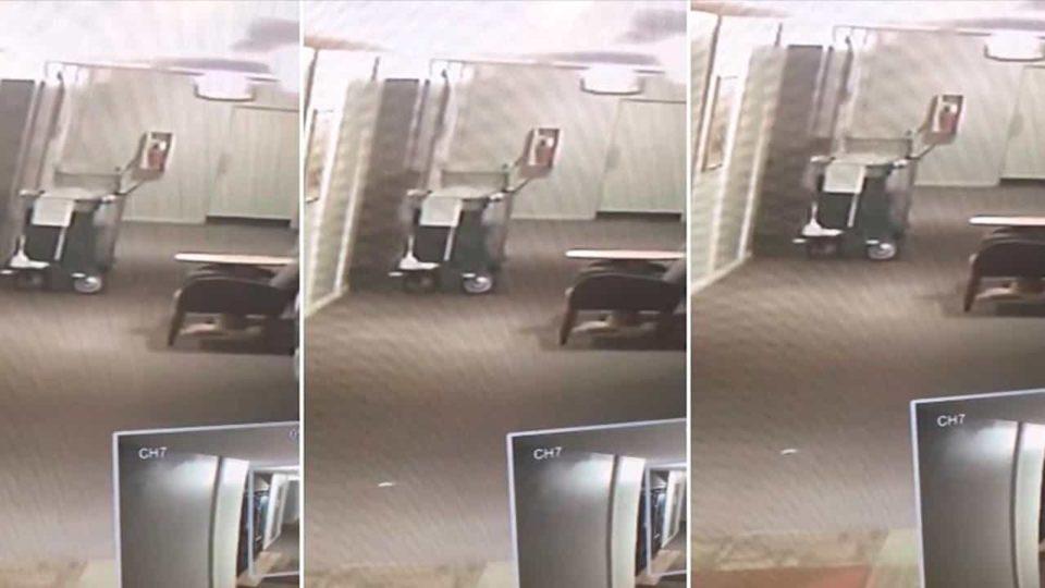 Entidade misteriosa é Filmada por Câmera de Vigilância em Hotel nos EUA