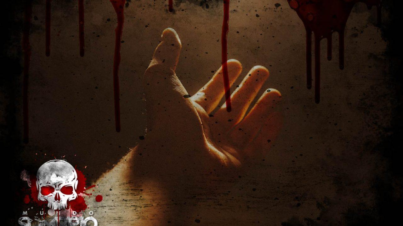 a mão de quem relato sobrenatural mundo sombrio